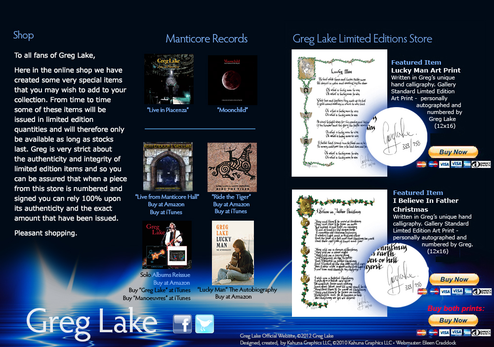 Greg Lake Home Page